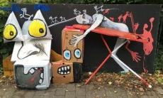 Trash art. El arte urbano de Pájaro